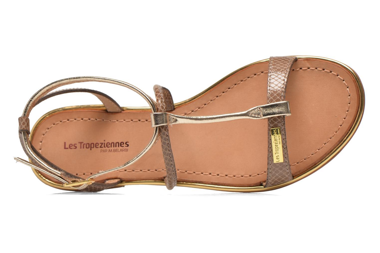 Sandals Les Tropéziennes par M Belarbi Haquina Bronze and Gold view from the left