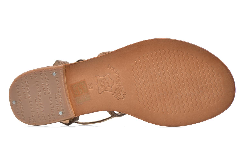 Sandals Les Tropéziennes par M Belarbi Haquina Bronze and Gold view from above