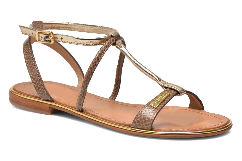 Sandaler Les Tropéziennes par M Belarbi Haquina Bronze och Guld detaljerad bild på paret