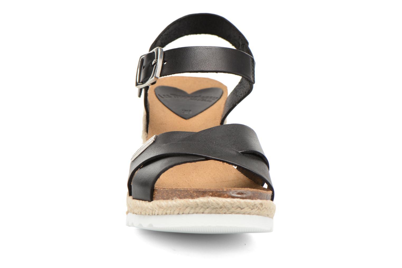 Sandales et nu-pieds Les Tropéziennes par M Belarbi Penka Noir vue portées chaussures