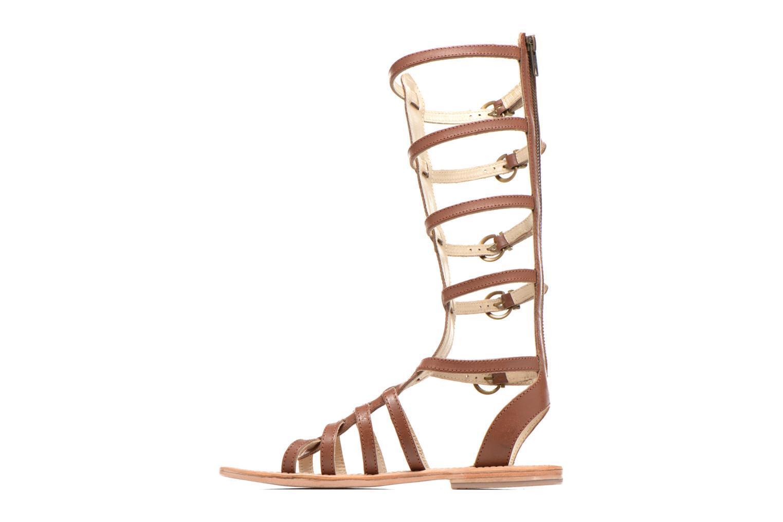Sandales et nu-pieds Les Tropéziennes par M Belarbi Nay Marron vue face