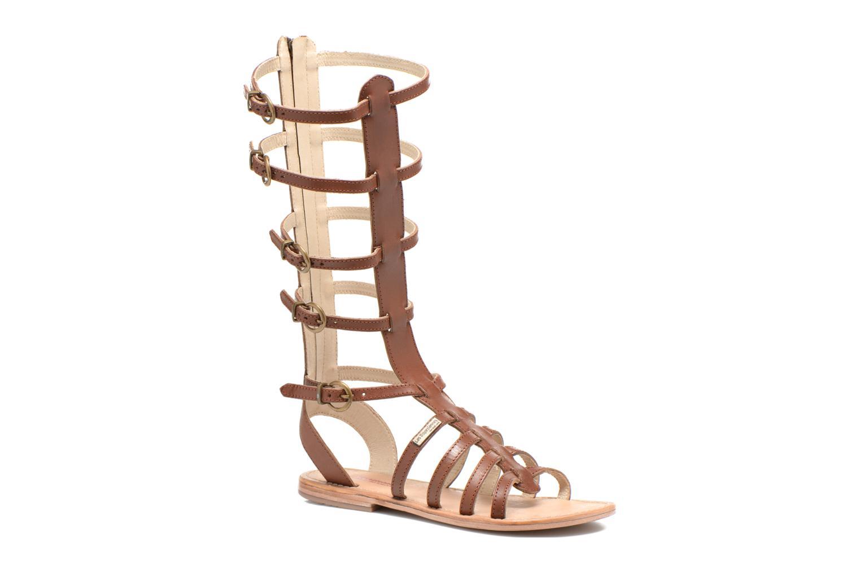 Sandales et nu-pieds Les Tropéziennes par M Belarbi Nay Marron vue détail/paire