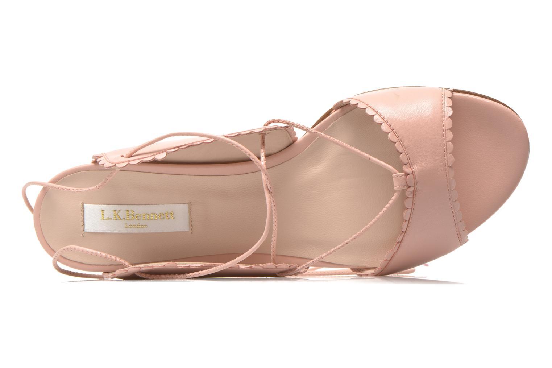 Sandali e scarpe aperte L.K. Bennett Jackies Rosa immagine sinistra