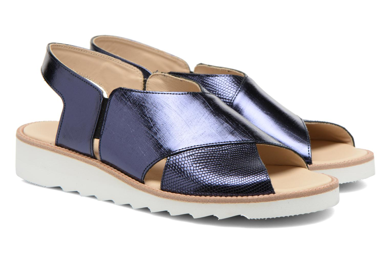Sandales et nu-pieds MAURICE manufacture Suzan Bleu vue 3/4
