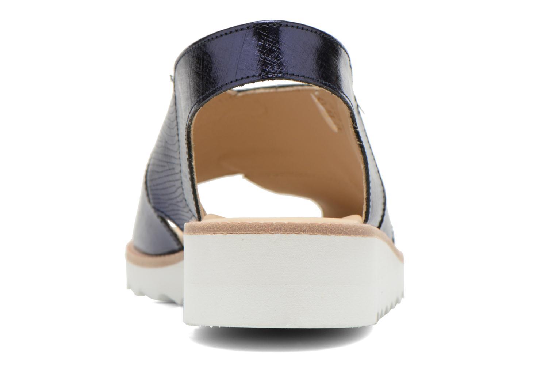 Sandales et nu-pieds MAURICE manufacture Suzan Bleu vue droite