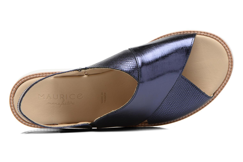 Sandales et nu-pieds MAURICE manufacture Suzan Bleu vue gauche