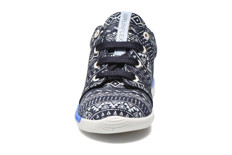 Baskets Shoesme Run flex Bleu vue portées chaussures