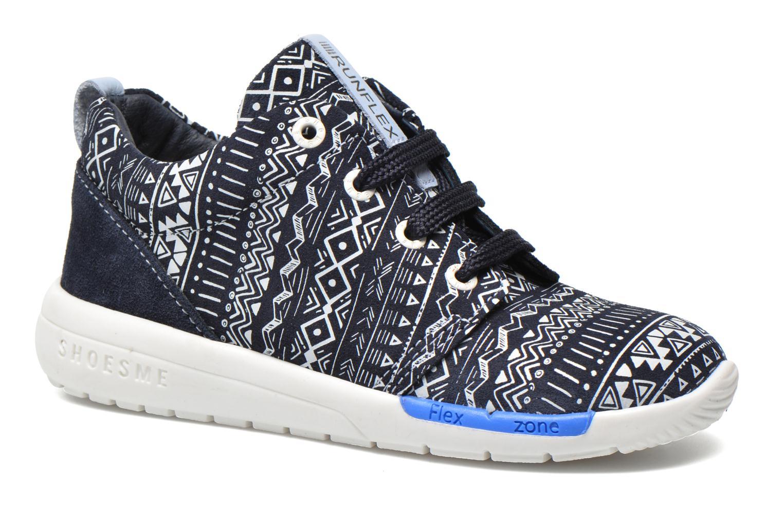 Baskets Shoesme Run flex Bleu vue détail/paire