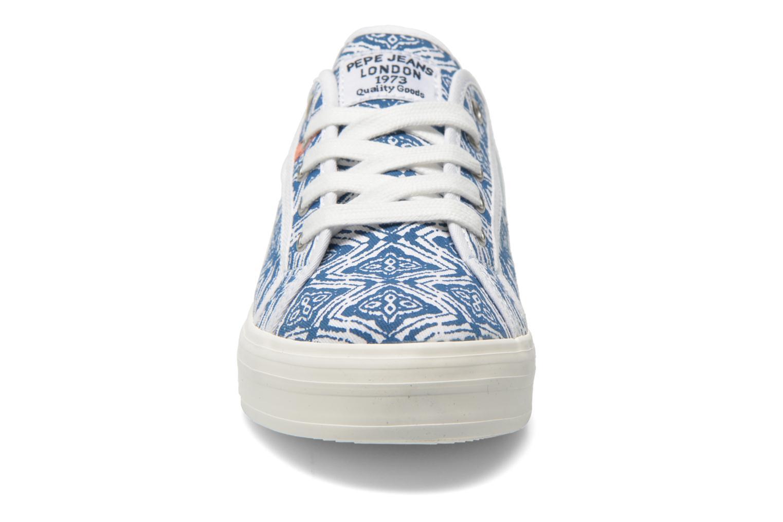 Baskets Pepe jeans Hannah Print Bleu vue portées chaussures