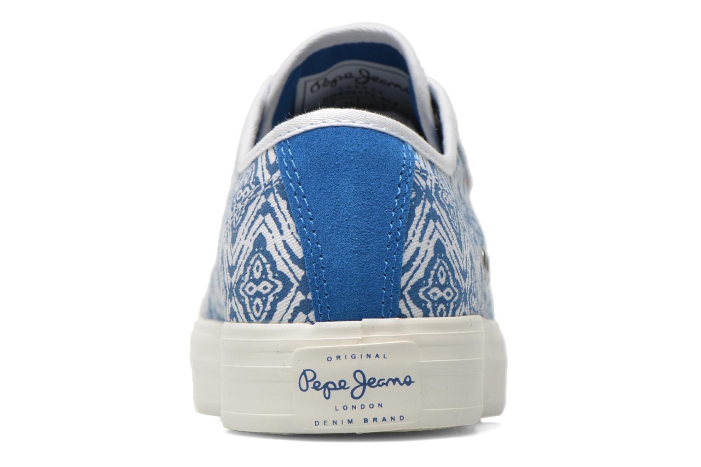 Baskets Pepe jeans Hannah Print Bleu vue droite