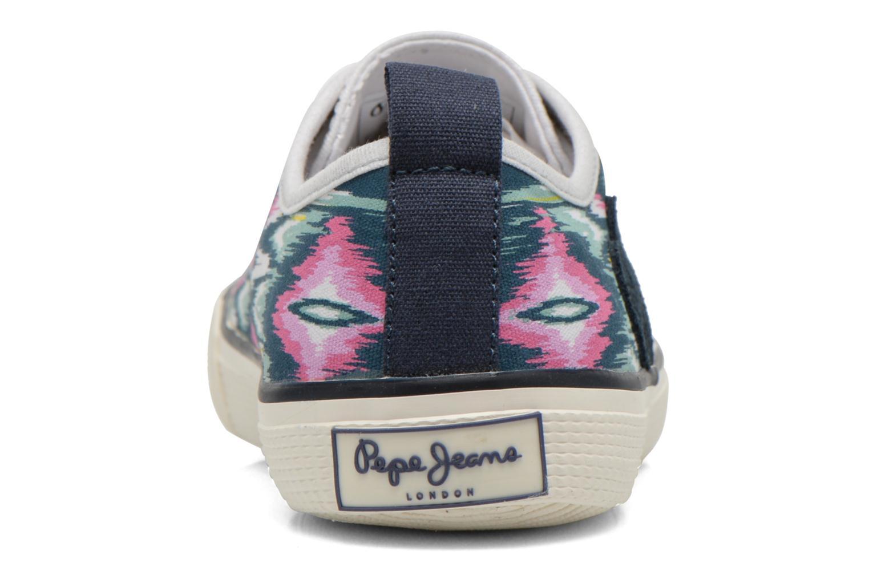 Baskets Pepe jeans Industry Low Glitter Multicolore vue droite