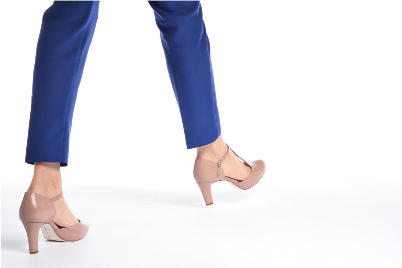 Zapatos de tacón Unisa Netan Rosa vista de abajo