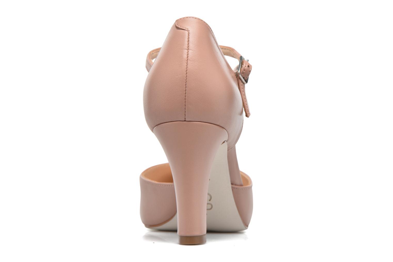 Zapatos de tacón Unisa Netan Rosa vista lateral derecha