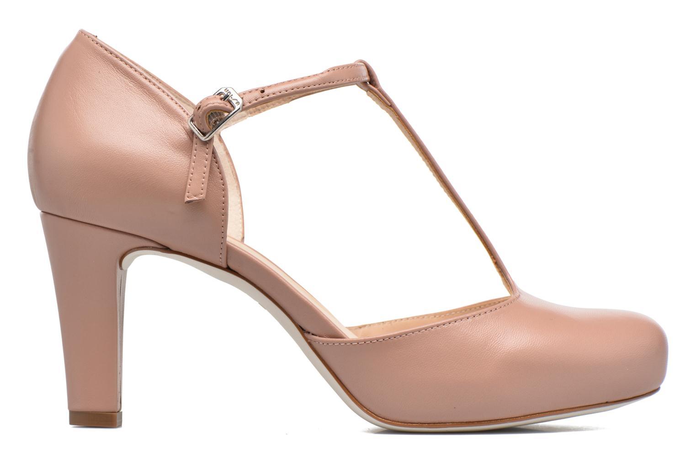 Zapatos de tacón Unisa Netan Rosa vistra trasera
