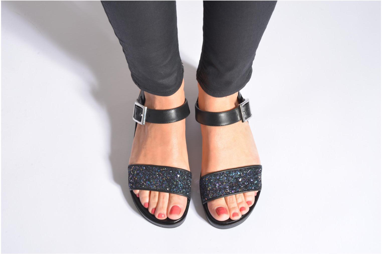 Sandales et nu-pieds Unisa Bojan Noir vue bas / vue portée sac