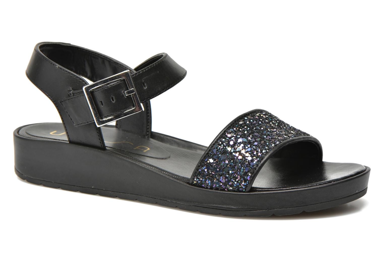 Sandales et nu-pieds Unisa Bojan Noir vue détail/paire