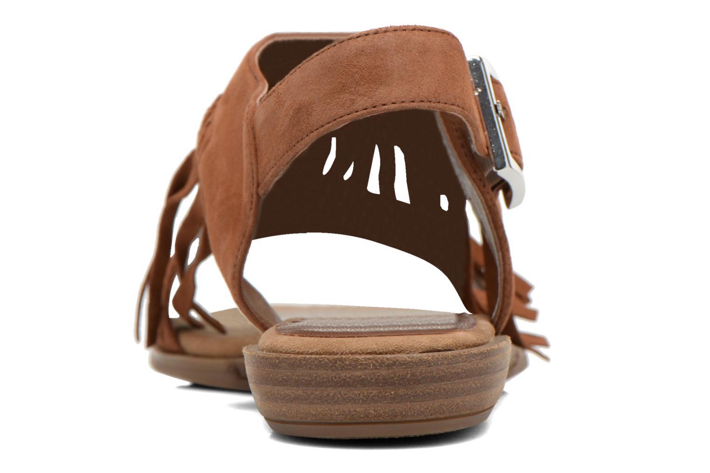 Sandales et nu-pieds Unisa Amolo Marron vue droite
