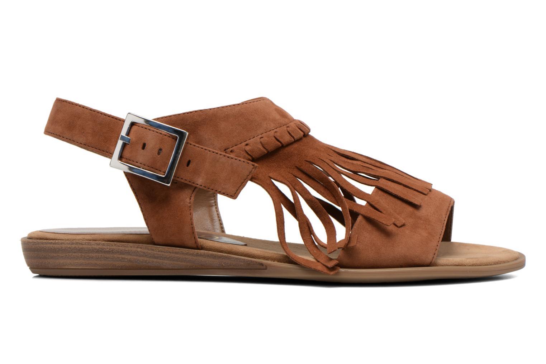 Sandales et nu-pieds Unisa Amolo Marron vue derrière