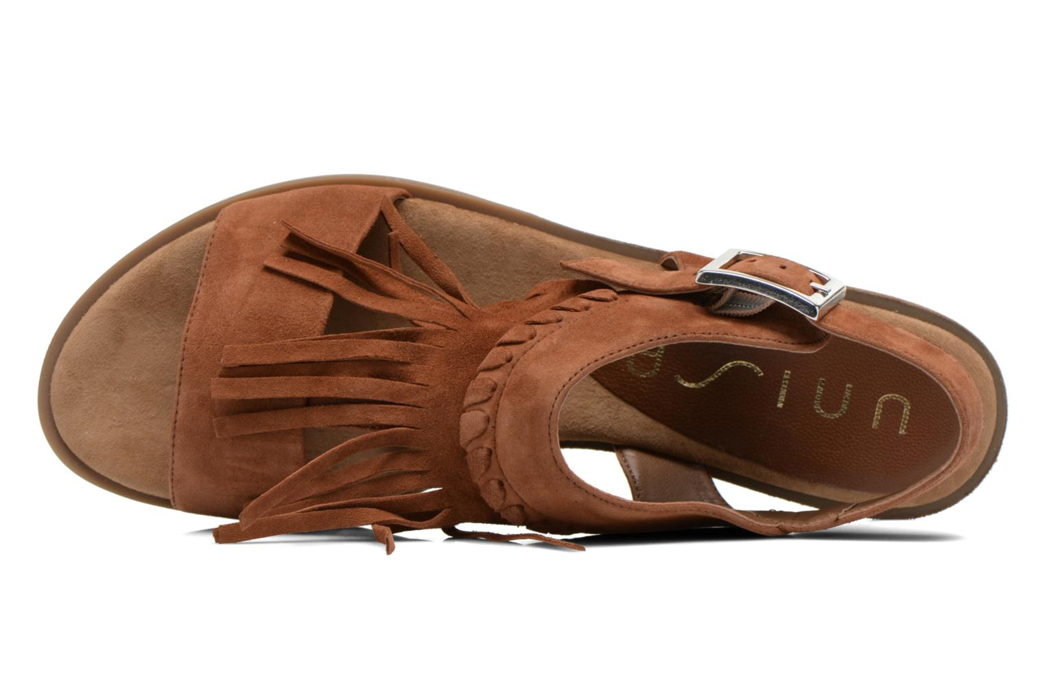 Sandals Unisa Amolo Brown view from the left