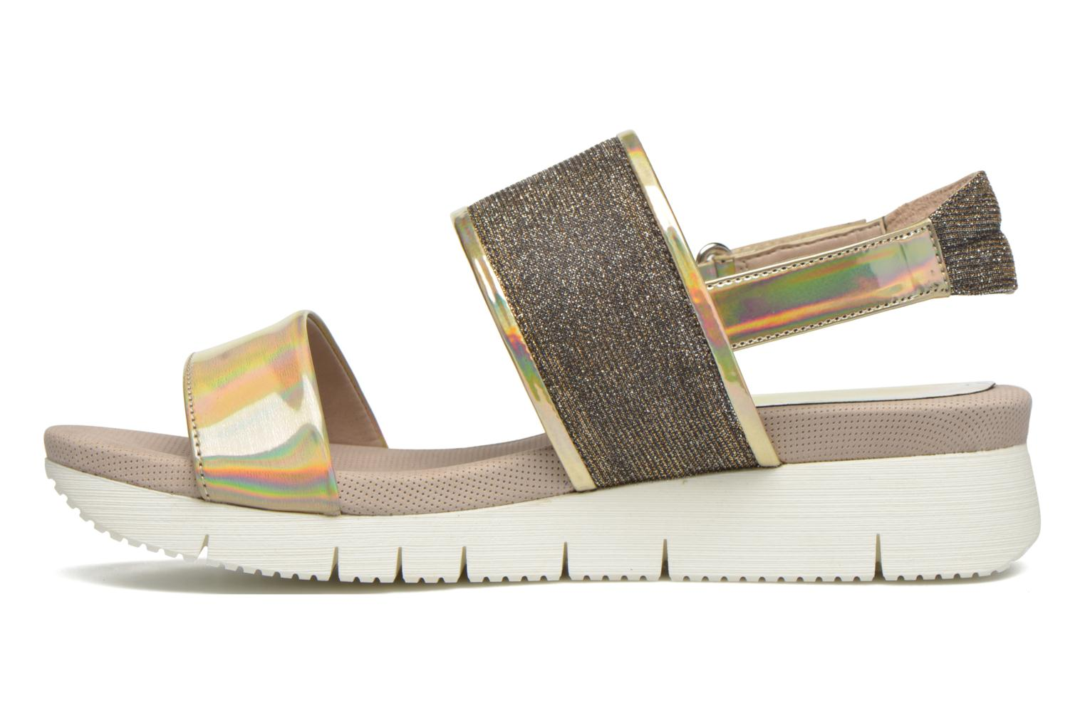 Sandals Unisa Barce Bronze and Gold front view