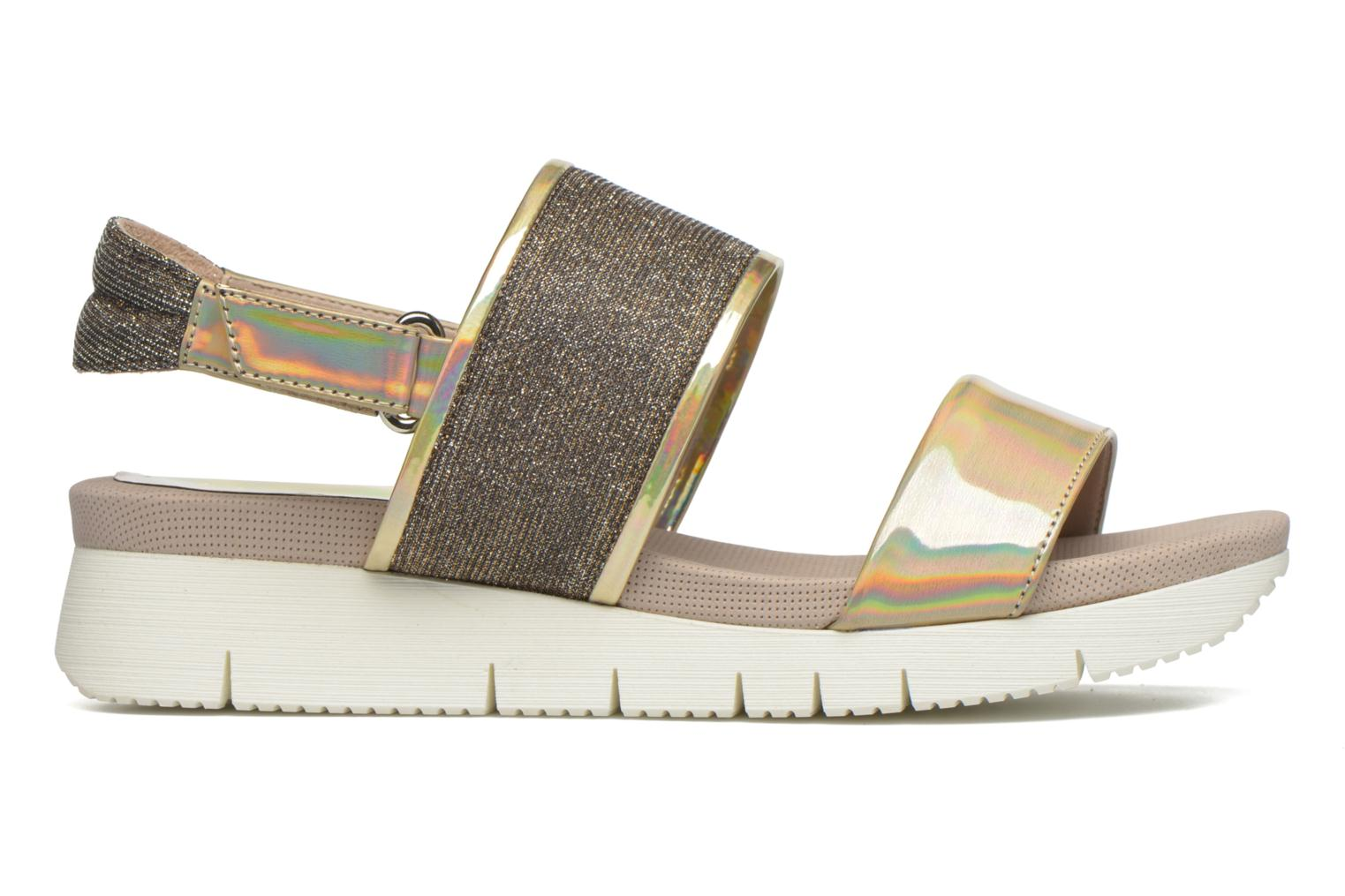 Sandals Unisa Barce Bronze and Gold back view