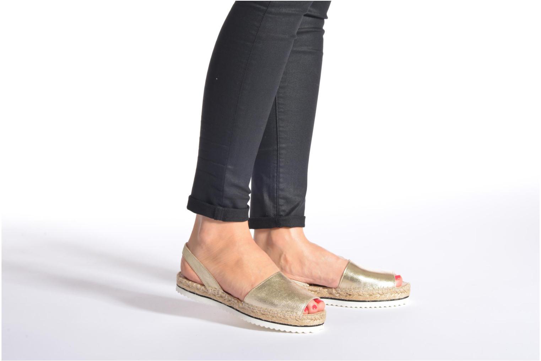 Sandales et nu-pieds Anaki Tequila Or et bronze vue bas / vue portée sac