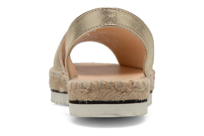 Sandales et nu-pieds Anaki Tequila Or et bronze vue droite