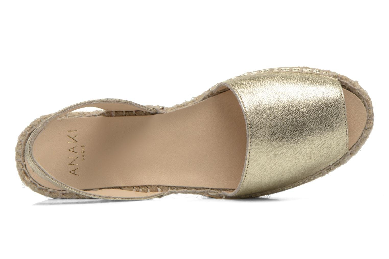 Sandals Anaki Tequila Bronze and Gold view from the left