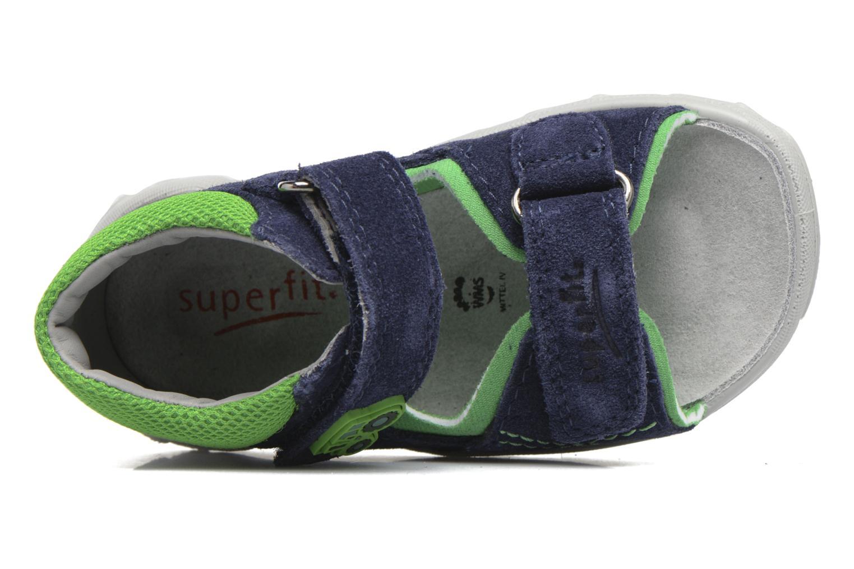 Sandales et nu-pieds Superfit Flow Bleu vue gauche