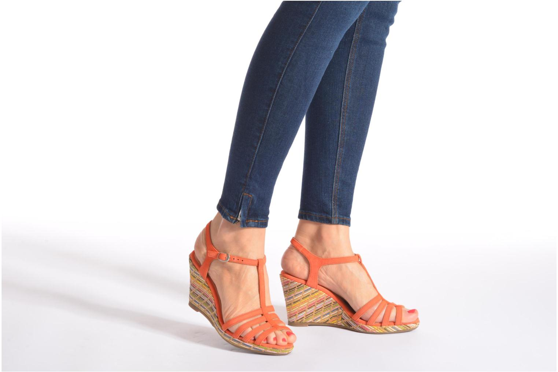 Sandales et nu-pieds Georgia Rose Emerita Orange vue bas / vue portée sac