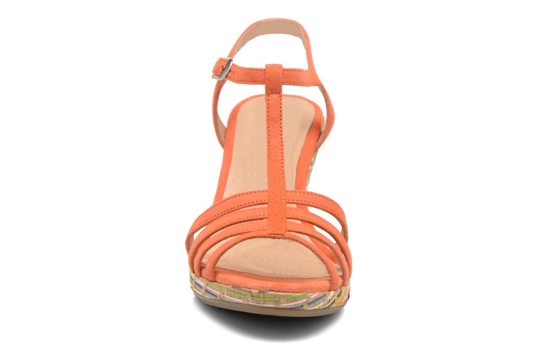 Sandales et nu-pieds Georgia Rose Emerita Orange vue portées chaussures