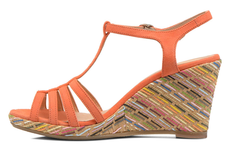 Sandales et nu-pieds Georgia Rose Emerita Orange vue face