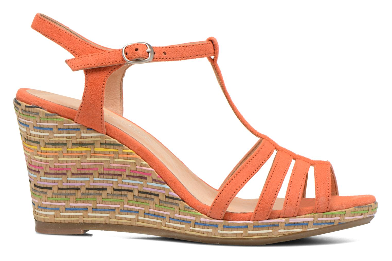 Sandales et nu-pieds Georgia Rose Emerita Orange vue derrière