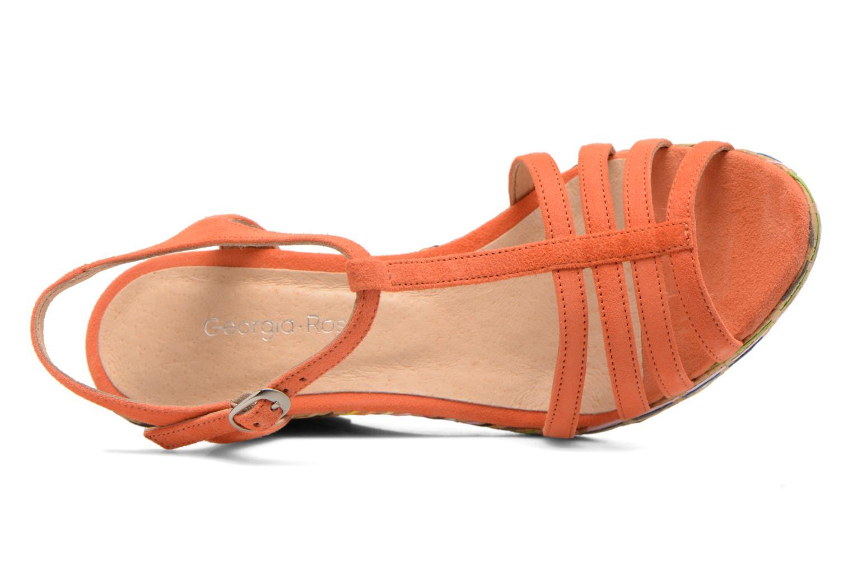 Sandales et nu-pieds Georgia Rose Emerita Orange vue gauche