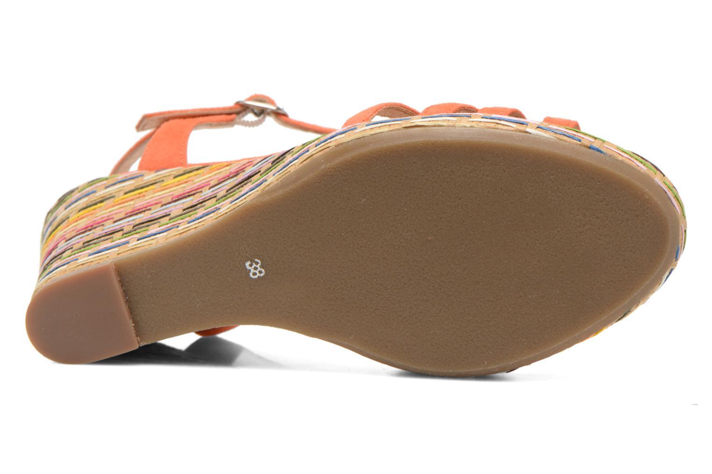 Sandales et nu-pieds Georgia Rose Emerita Orange vue haut