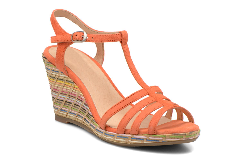 Sandales et nu-pieds Georgia Rose Emerita Orange vue détail/paire