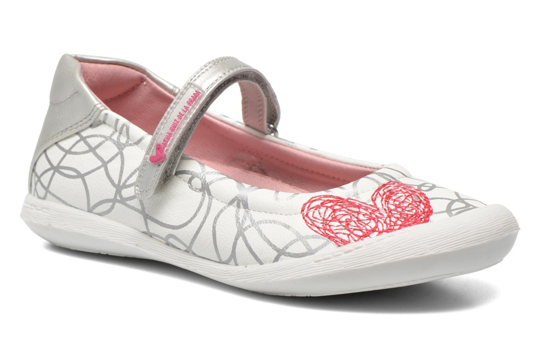 Ballet pumps Agatha Ruiz de la Prada Mira White detailed view/ Pair view