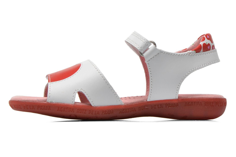 Sandals Agatha Ruiz de la Prada Ella V White front view