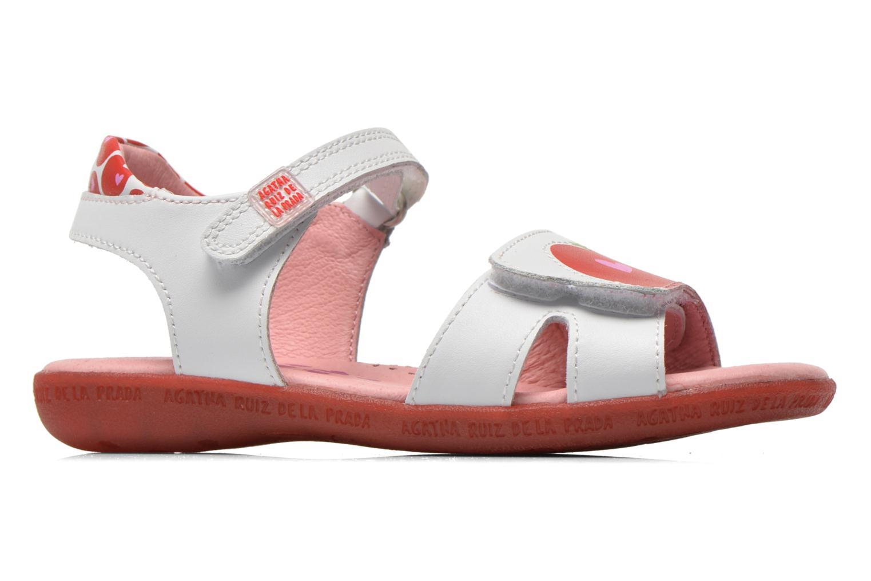 Sandals Agatha Ruiz de la Prada Ella V White back view