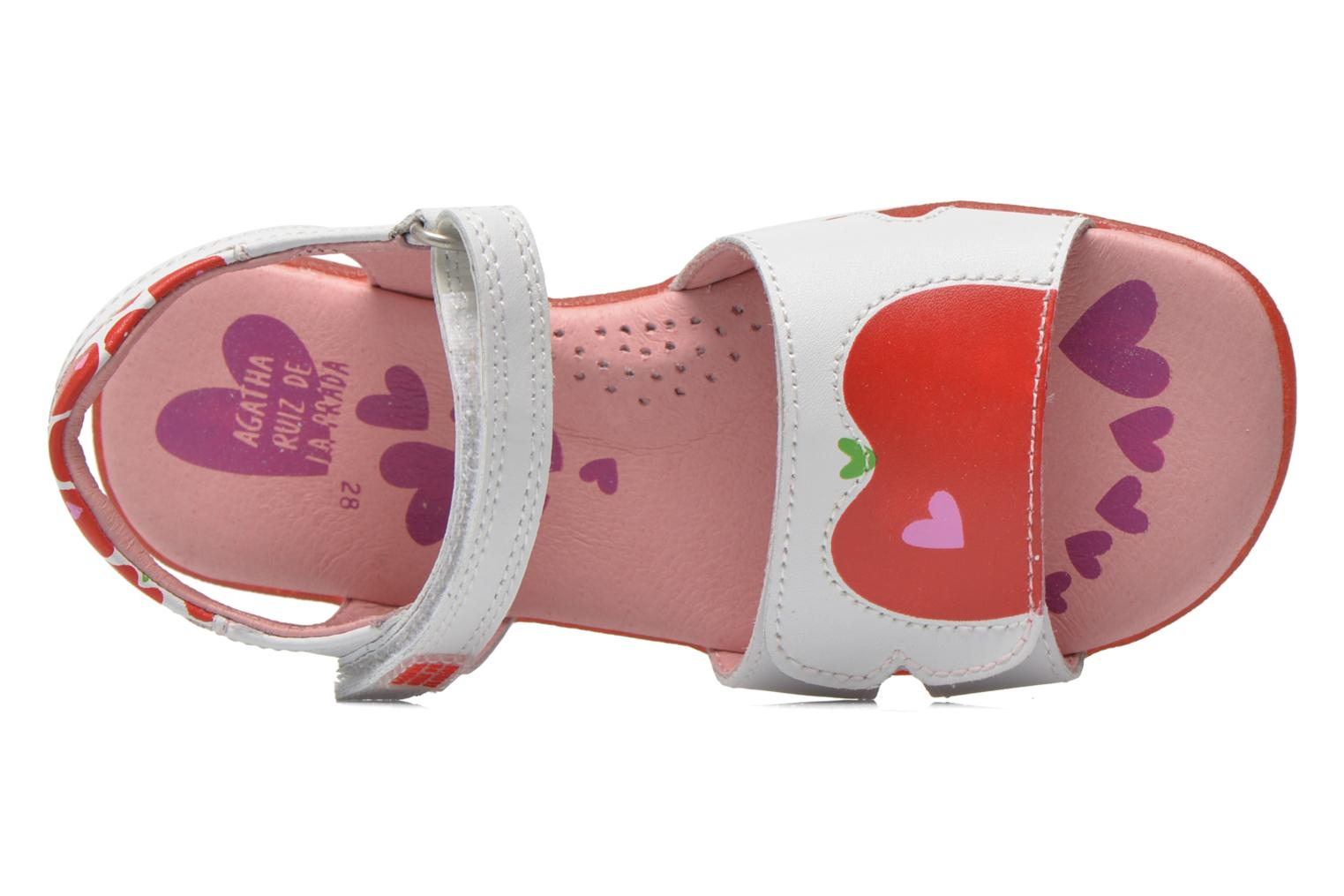 Sandals Agatha Ruiz de la Prada Ella V White view from the left