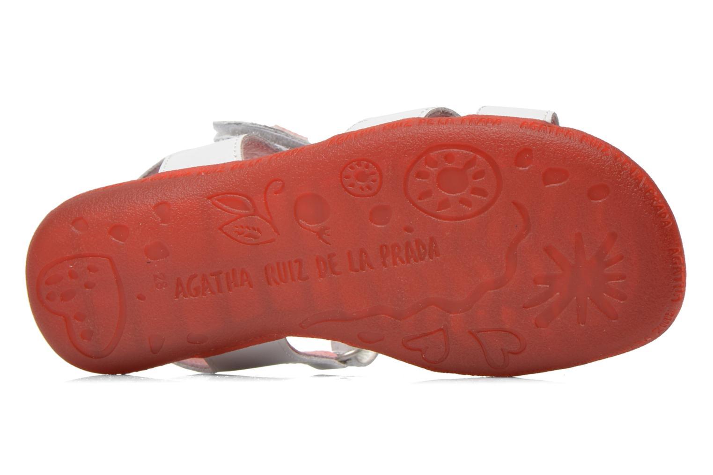 Sandales et nu-pieds Agatha Ruiz de la Prada Ella V Blanc vue haut