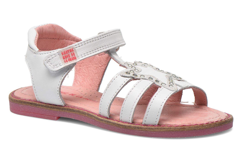 Sandales et nu-pieds Agatha Ruiz de la Prada Miss Ponza Blanc vue détail/paire