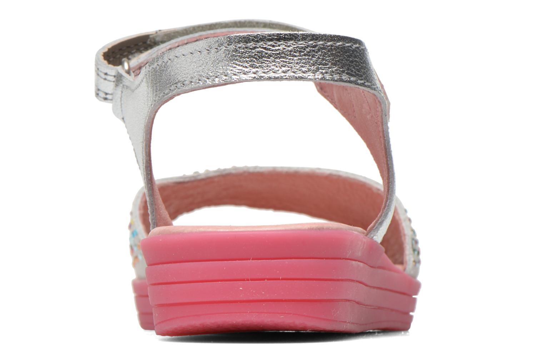 Sandals Agatha Ruiz de la Prada Diva Silver view from the right