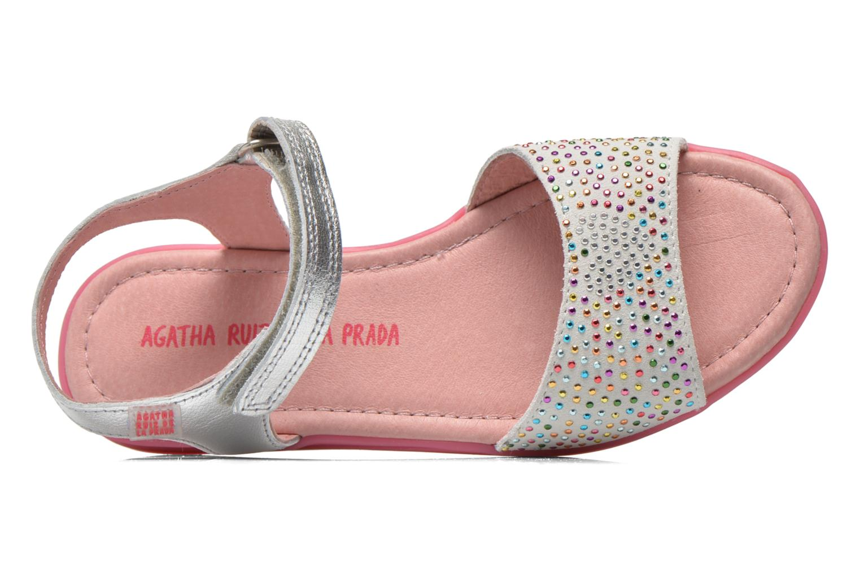 Sandals Agatha Ruiz de la Prada Diva Silver view from the left