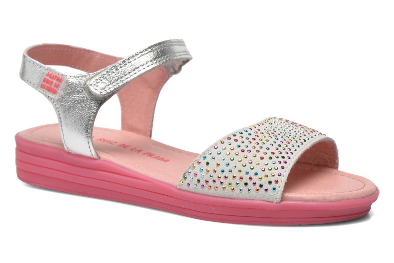 Sandals Agatha Ruiz de la Prada Diva Silver detailed view/ Pair view