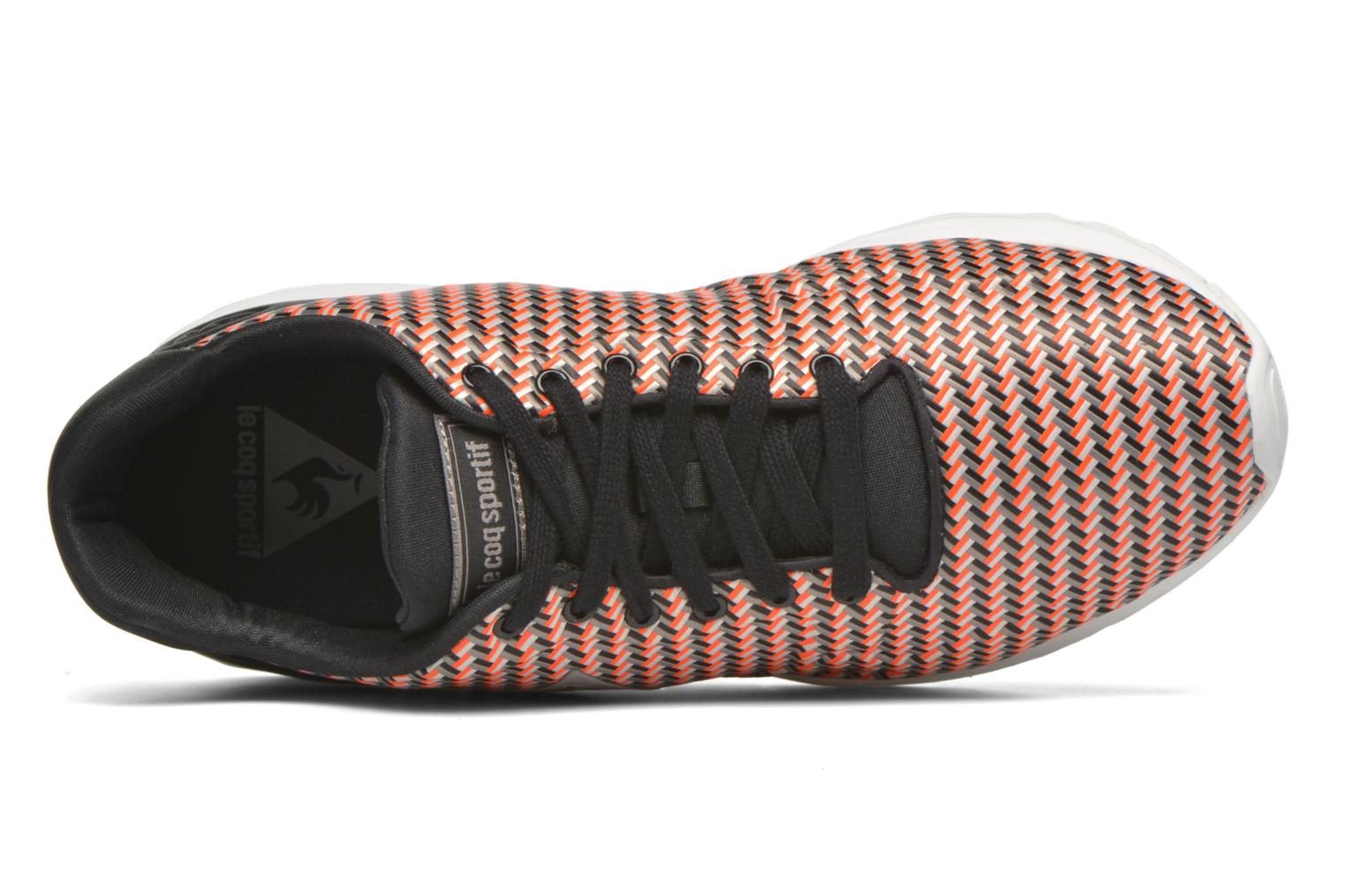 Black/Fluoro Red Le Coq Sportif LCS R950 Geo Jacquard (Rouge)