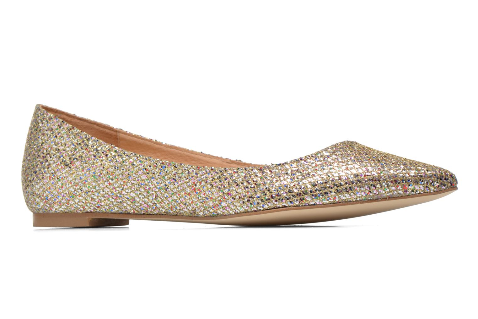 Ballet pumps Jonak Dinora Bronze and Gold back view