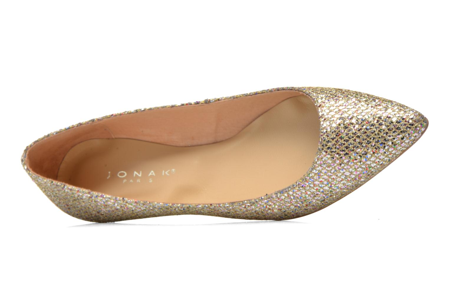Ballet pumps Jonak Dinora Bronze and Gold view from the left