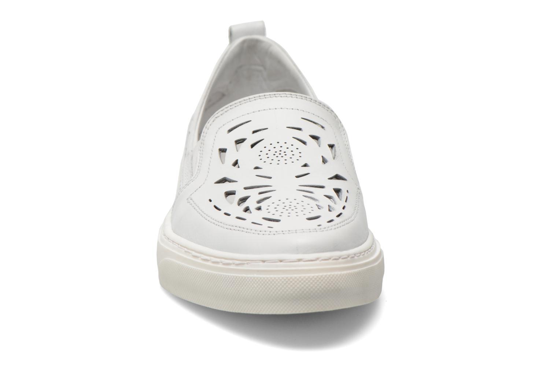 Baskets Bronx Mec Blanc vue portées chaussures