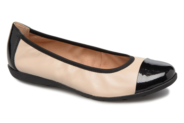 Ballerinaer Caprice Vivian Beige detaljeret billede af skoene